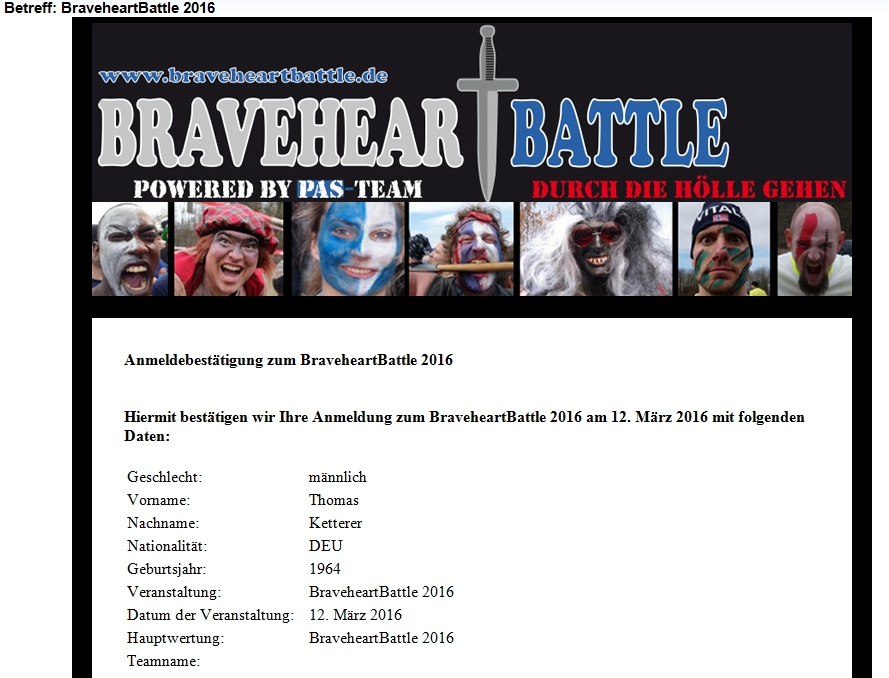 Braveheart Battle 2016