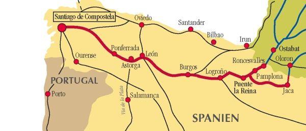 Landkarte Nordspanien